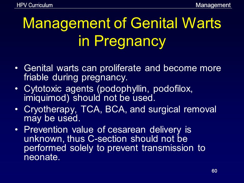 hpv treatment during pregnancy