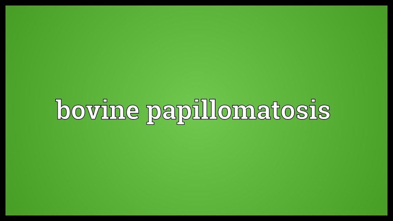 papillomatosis meaning