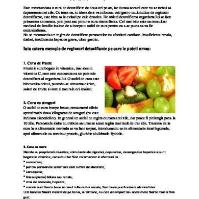 dieta de detoxifiere a colonului gratuit